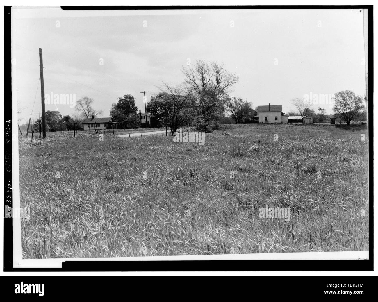 Photograph of photograph, circa 1971. Original print in Field Records. LOOKING NORTHEAST FROM PAGES CORNER. - Abbott-Page House, Mason Road, State Route 13 vicinity, Milan, Erie County, OH - Stock Image