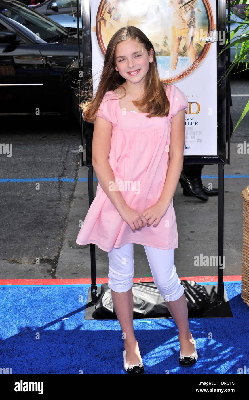 LOS ANGELES, CA. March 30, 2008: Madison Davenport at the world premiere of 'Nim's Island' at Grauman's Chinese Theatre, Hollywood. © 2008 Paul Smith / Featureflash - Stock Image