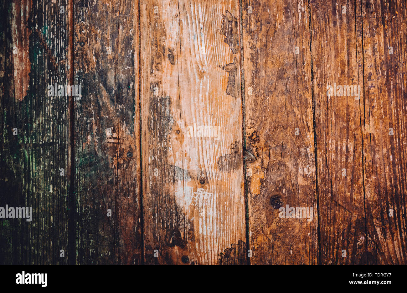 old and vertical wooden background of brown tones - Stock Image