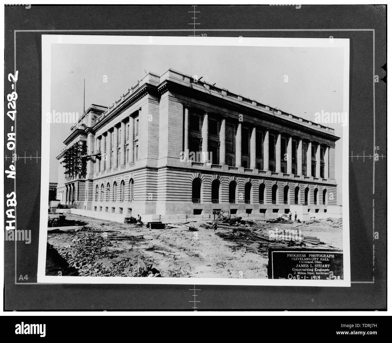 Photographer unknown,Oct. 1,1914,construction photo - Cleveland City Hall, 601 Lakeside Avenue, Cleveland, Cuyahoga County, OH - Stock Image