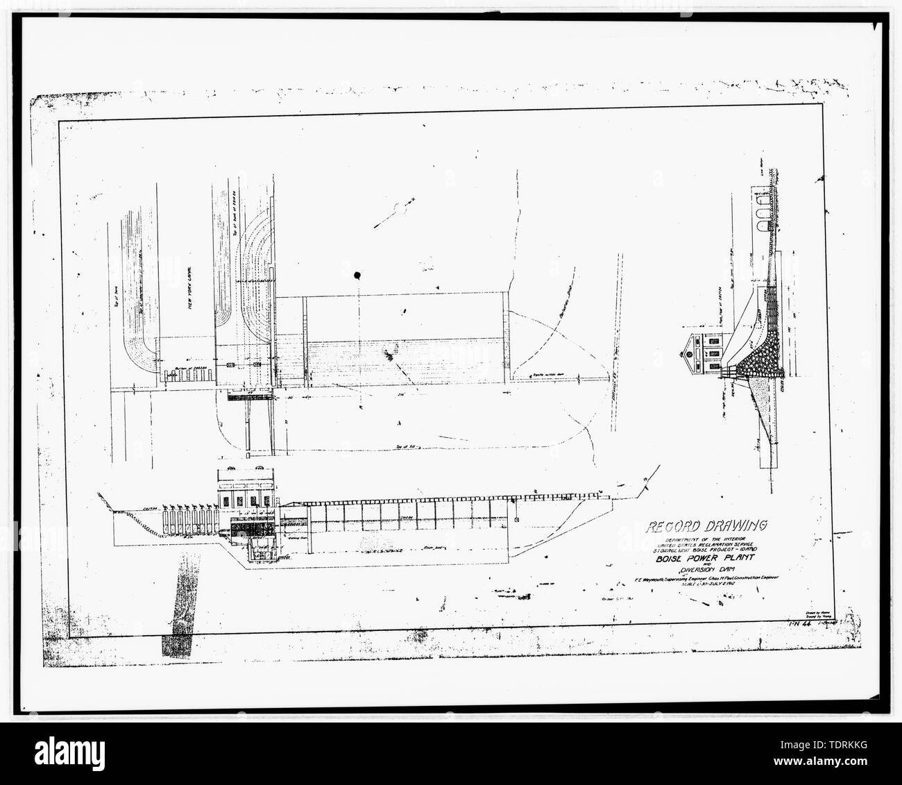 Photographic copy of construction drawings, U S  Reclamation