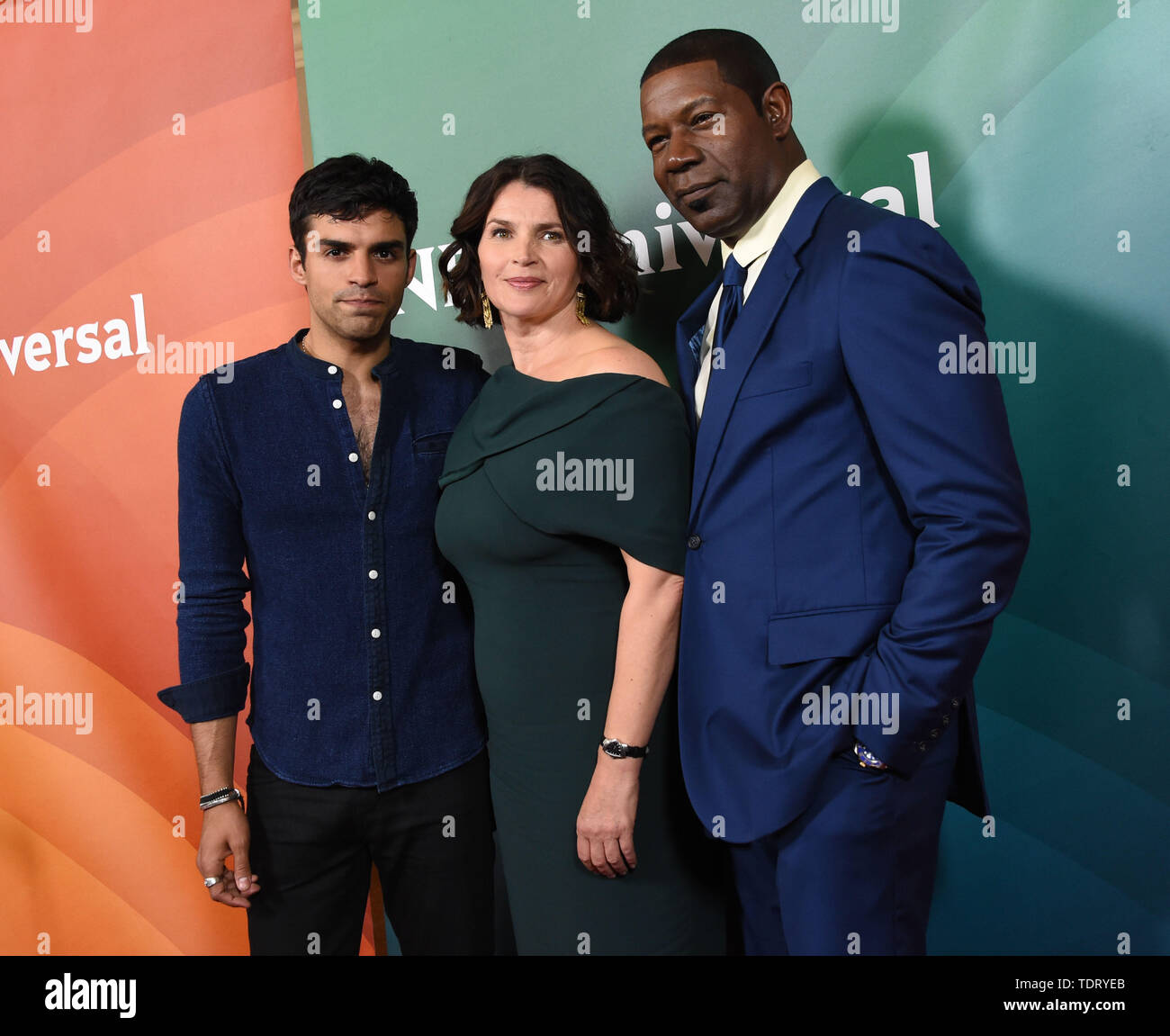 August 4, 2016 - Beverly Hills, California, Etats-Unis - Sean Teale + Julia Ormond + Dennis Haysbert @ the 2016 NBC Universal summer press tour held @ the Beverly Hilton hotel..August 3, 2016 (Credit Image: © Chris Delmas/ZUMA Wire) - Stock Image