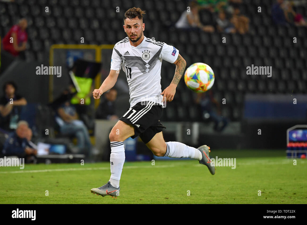 Marco RICHTER (GER), Action, Single Action, Frame, Cut Out, Full Body, Whole Figure. Germany (GER) -Daenemark (DEN) 3-1, on 17.06.2019 Stadio Friuli Udine. Football U-21, UEFA Under21 European Championship in Italy/SanMarino from 16.-30.06.2019. | Usage worldwide - Stock Image