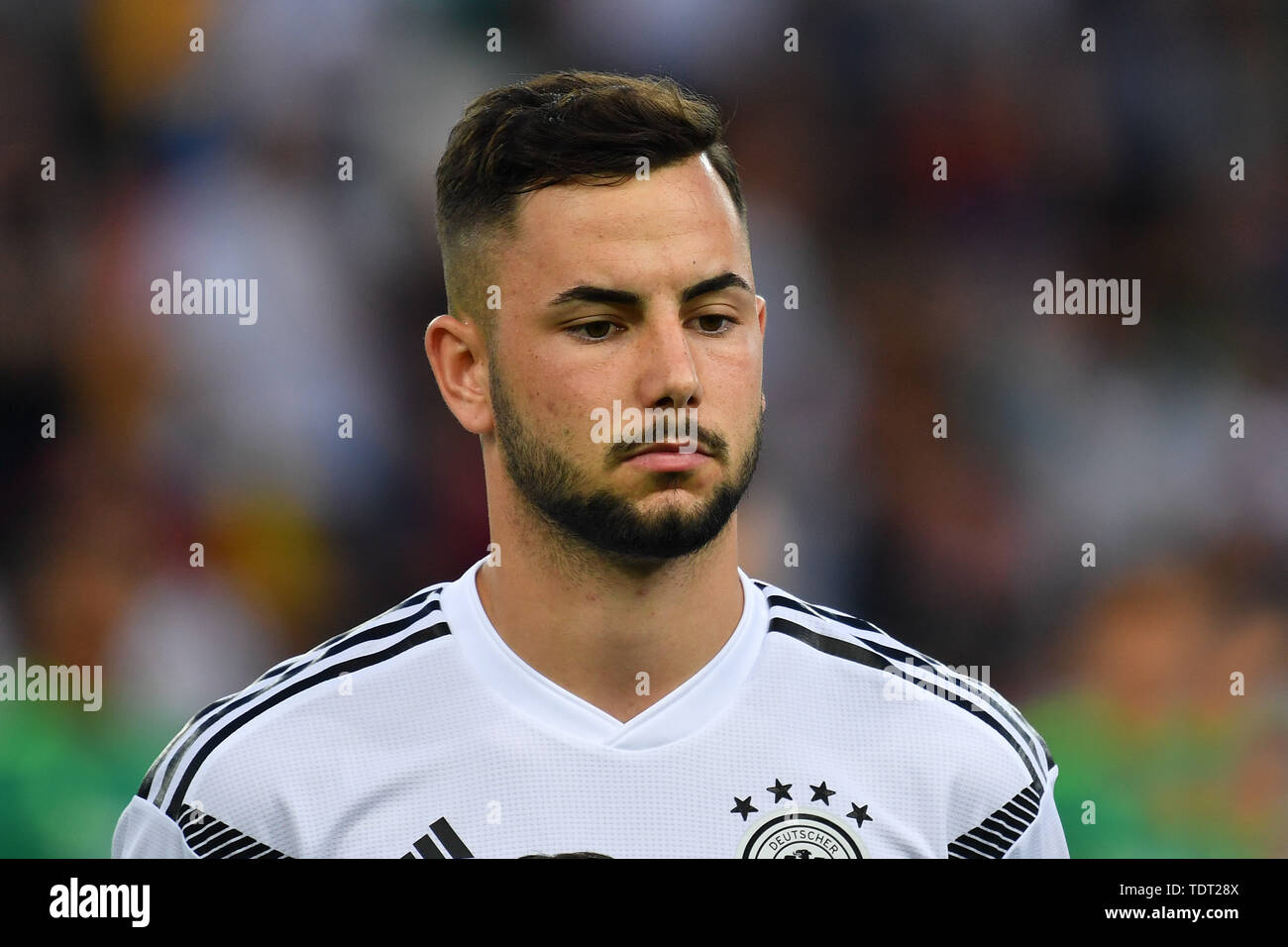 Marco RICHTER (GER), action, single image, single motif, portrait, portrait, portrait. Germany (GER) -Daenemark (DEN) 3-1, on 17.06.2019 Stadio Friuli Udine. Football U-21, UEFA Under21 European Championship in Italy/SanMarino from 16.-30.06.2019. | Usage worldwide - Stock Image