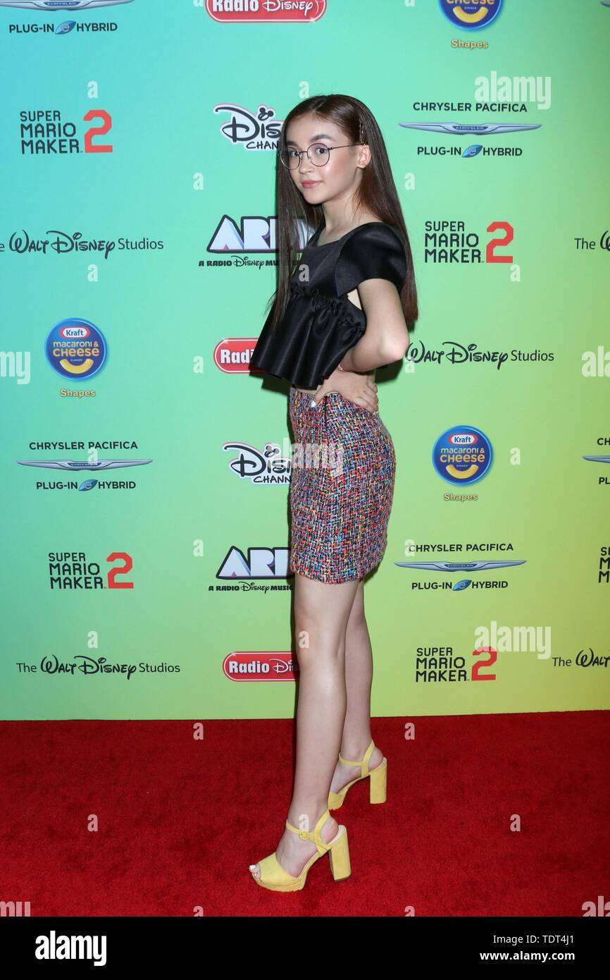 Anna Cathcart at arrivals for 2019 ARDYs (fka Radio Disney Music Awards), Studio City, Los Angeles, CA June 16, 2019. Photo By: Priscilla Grant/Everett Collection - Stock Image