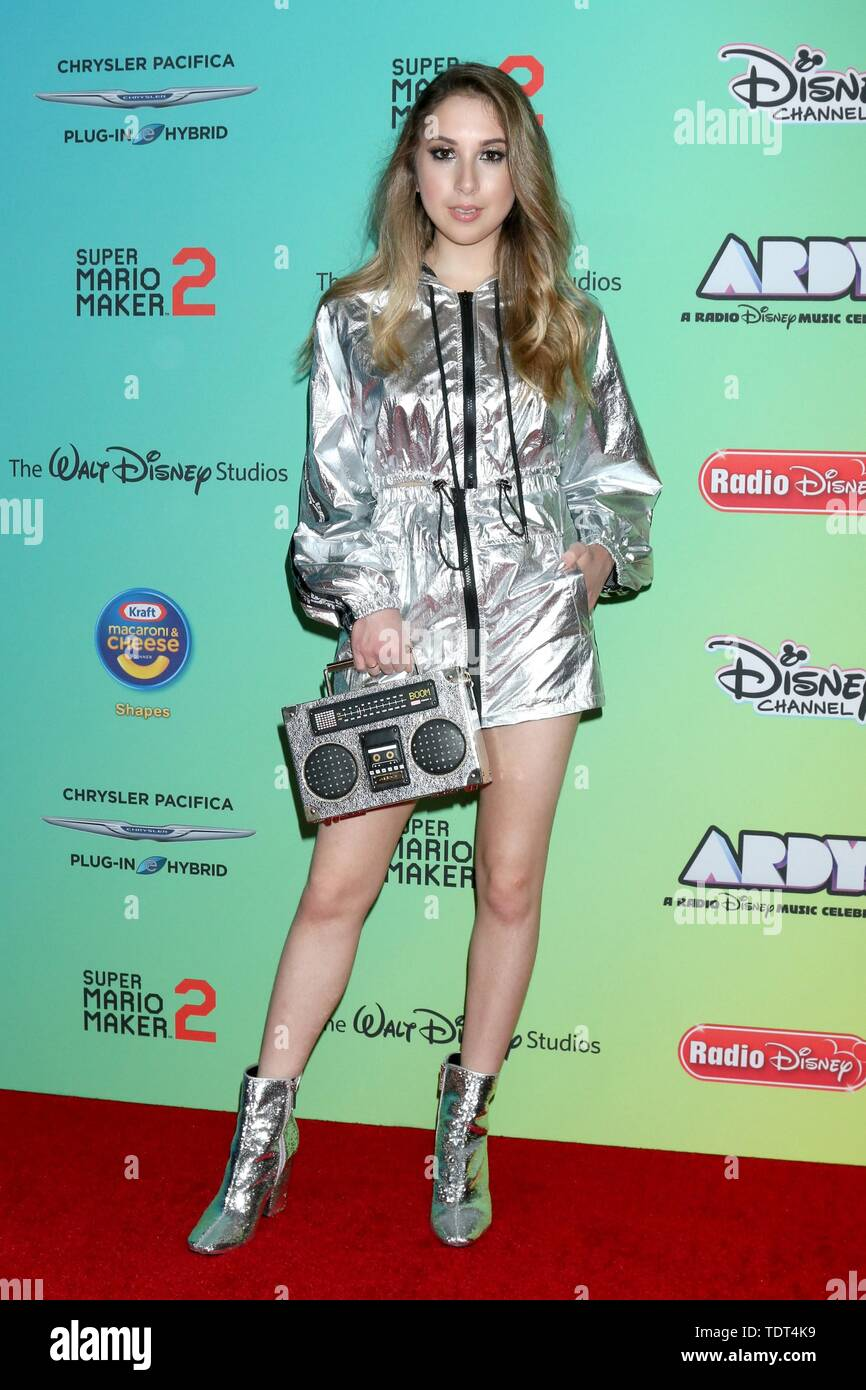 Carrie Berk at arrivals for 2019 ARDYs (fka Radio Disney Music Awards), Studio City, Los Angeles, CA June 16, 2019. Photo By: Priscilla Grant/Everett Collection - Stock Image