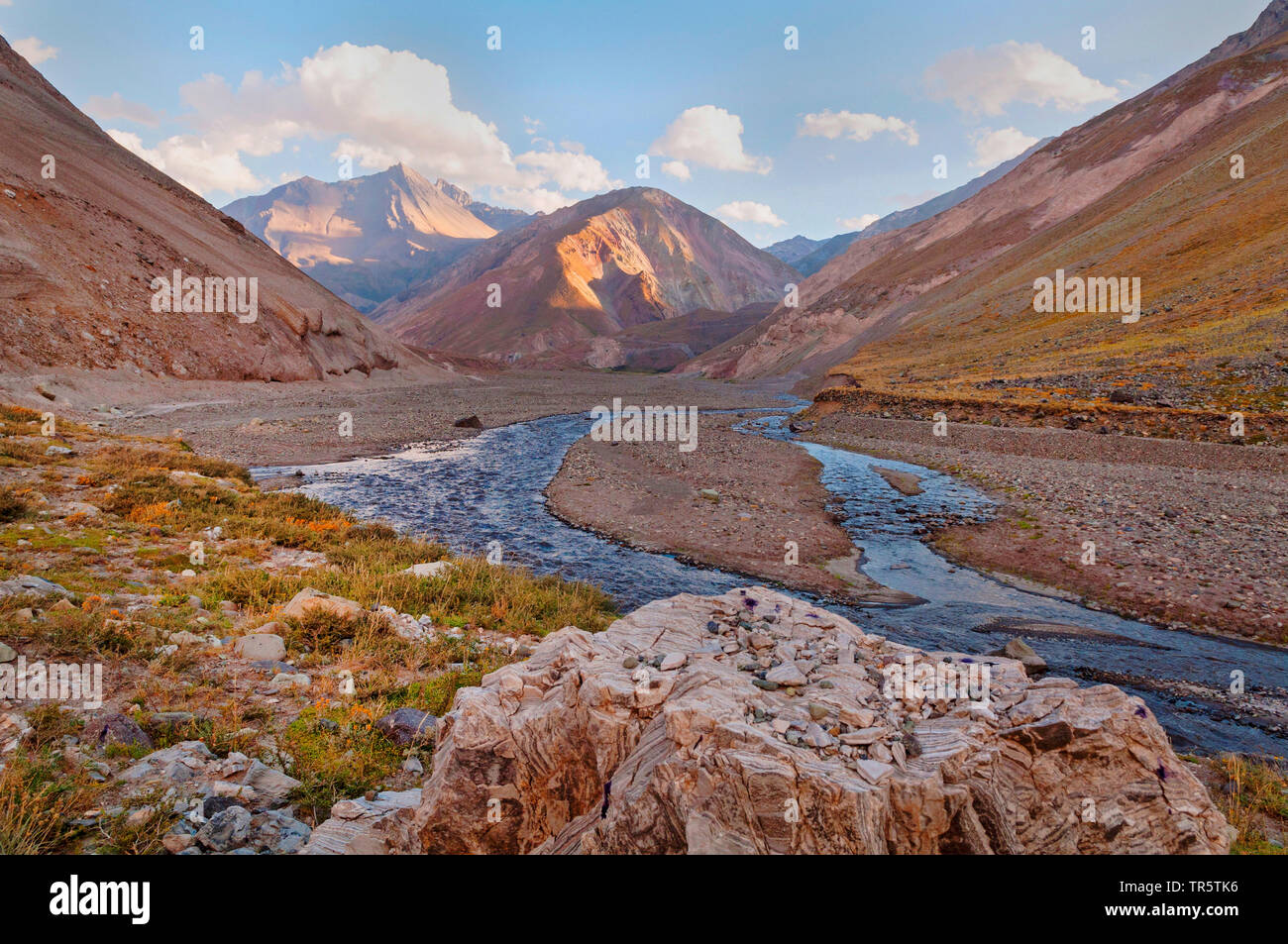 Flusslauf des Rio del Maipo in den chilenischen Anden, Chile, Anden   Maipo River in the Chilean Andes, Chile, Andes   BLWS465292.jpg [ (c) blickwinke - Stock Image