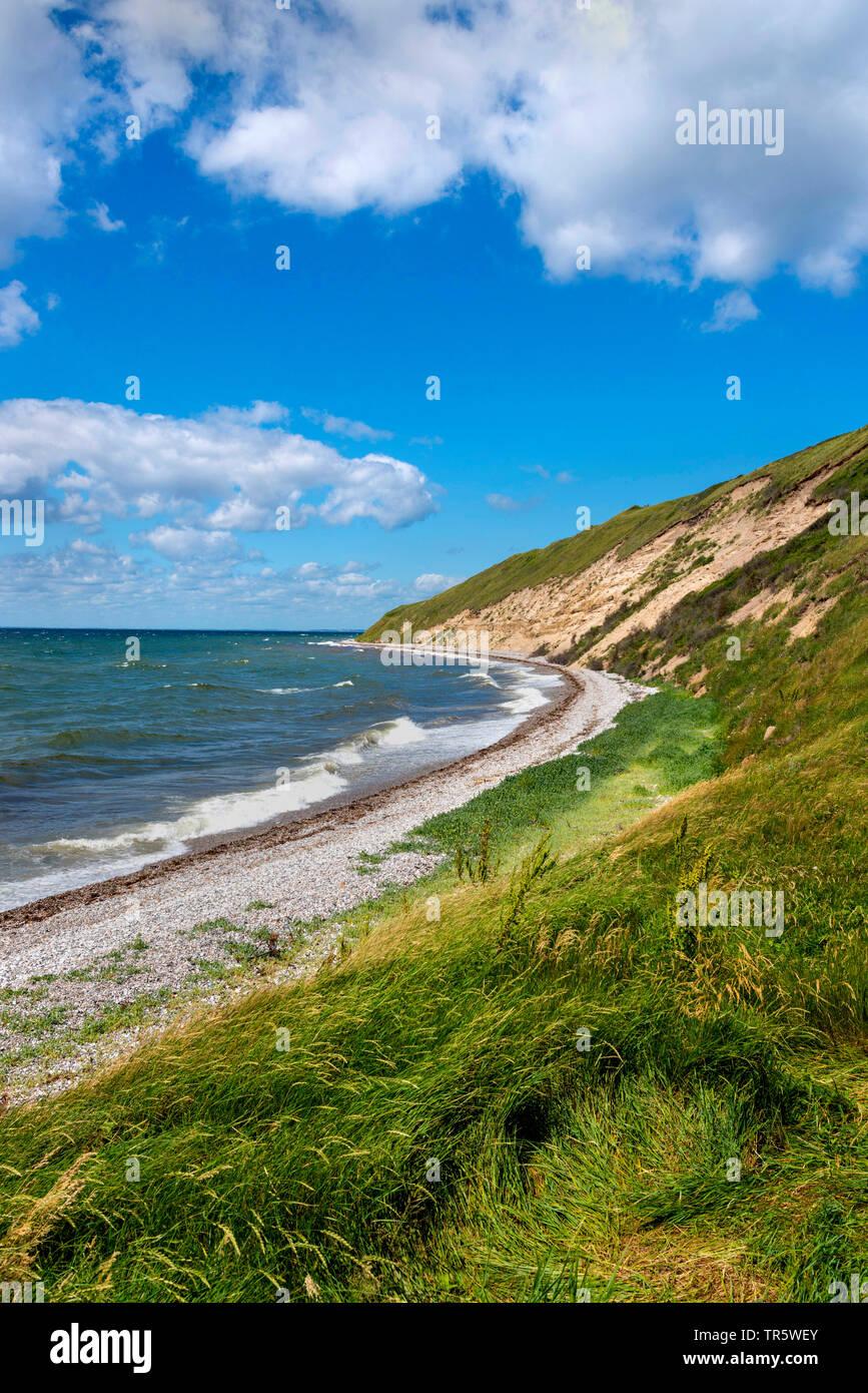 northeast coast of Samsoe Island in summer, Kattegat, Denmark, Samsoe, Maarup - Stock Image