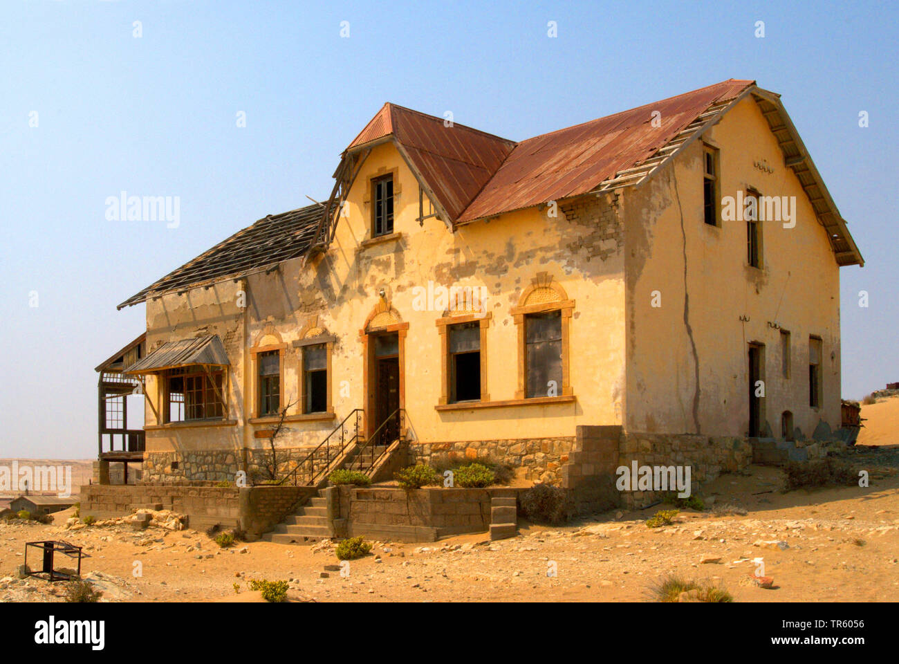 house in the ghost town Kolmannskuppe, Namibia, Kolmannskuppe - Stock Image