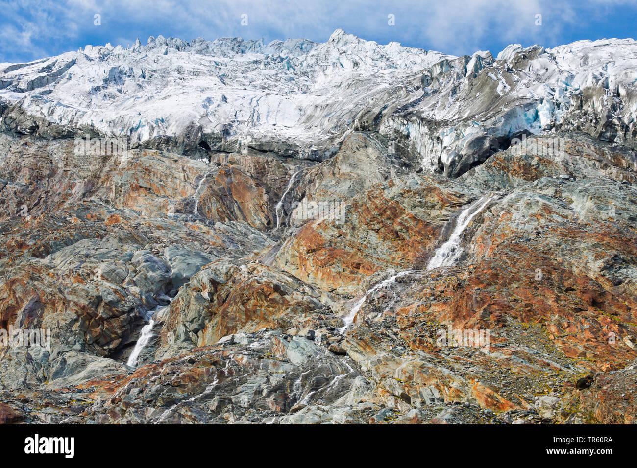 Rhone Glacier near the Furka Pass, Switzerland, Valais, Oberwallis Stock Photo