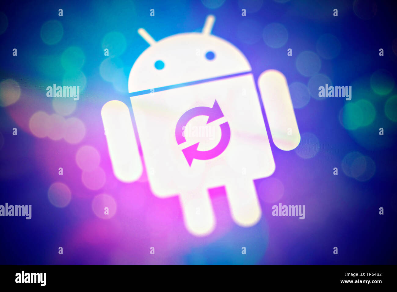 Laden des Android-Betriebssystems | charging of Android operating system | BLWS473190.jpg [ (c) blickwinkel/McPHOTO/C. Ohde Tel. +49 (0)2302-2793220, - Stock Image