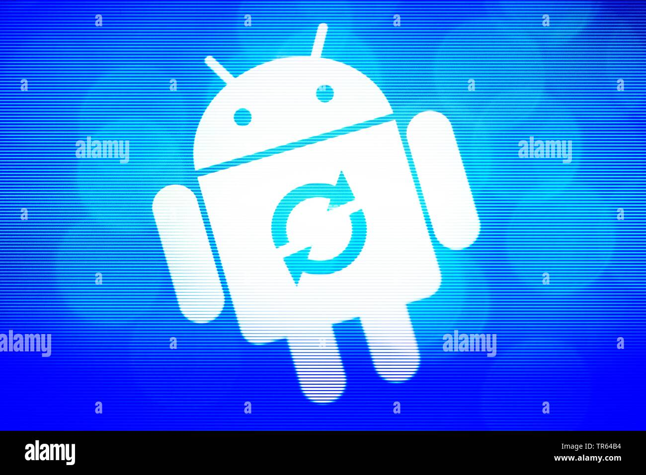 Laden des Android-Betriebssystems | charging of Android operating system | BLWS473192.jpg [ (c) blickwinkel/McPHOTO/C. Ohde Tel. +49 (0)2302-2793220, - Stock Image