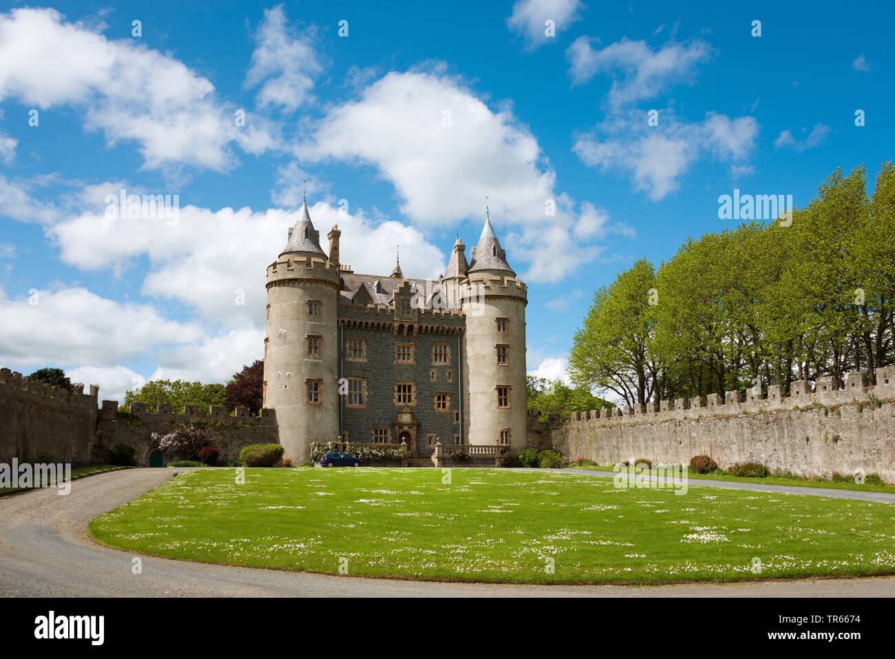 Killyleagh Castle, Ireland, Northern Ireland, County Down, Killyleagh - Stock Image