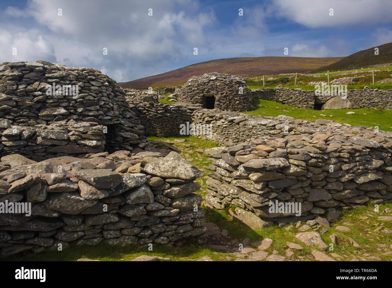 Clochans on Dingle Peninsula, Ireland, Ring of Kerry, Dingle Peninsula - Stock Image