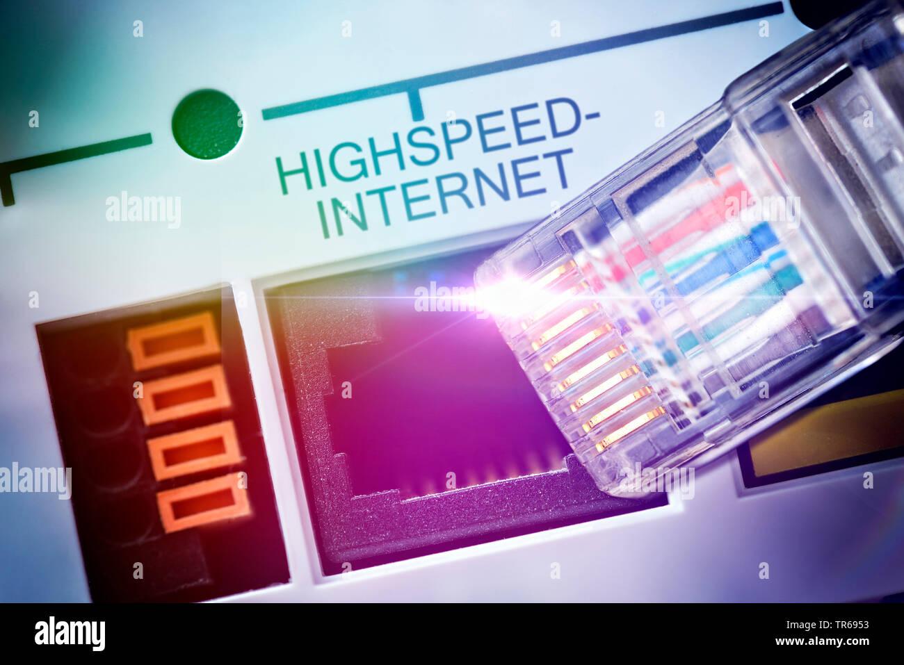 symbol foto broadband internet, Germany Stock Photo