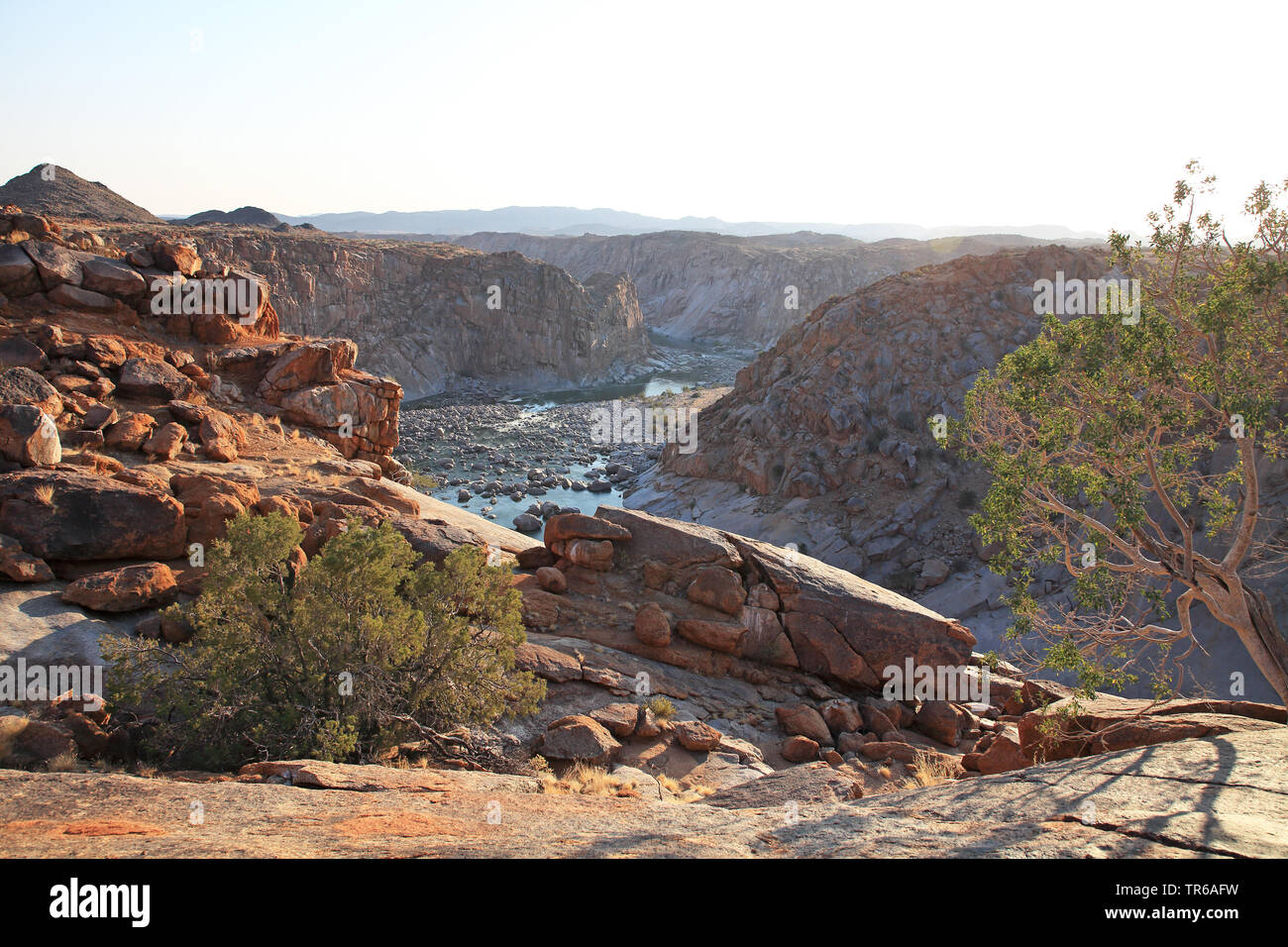 Orange River Schlucht bei Ararat, Suedafrika, Augrabies Falls Nationalpark | Orange River Gorge near Ararat, South Africa, Augrabies Falls National Pa - Stock Image