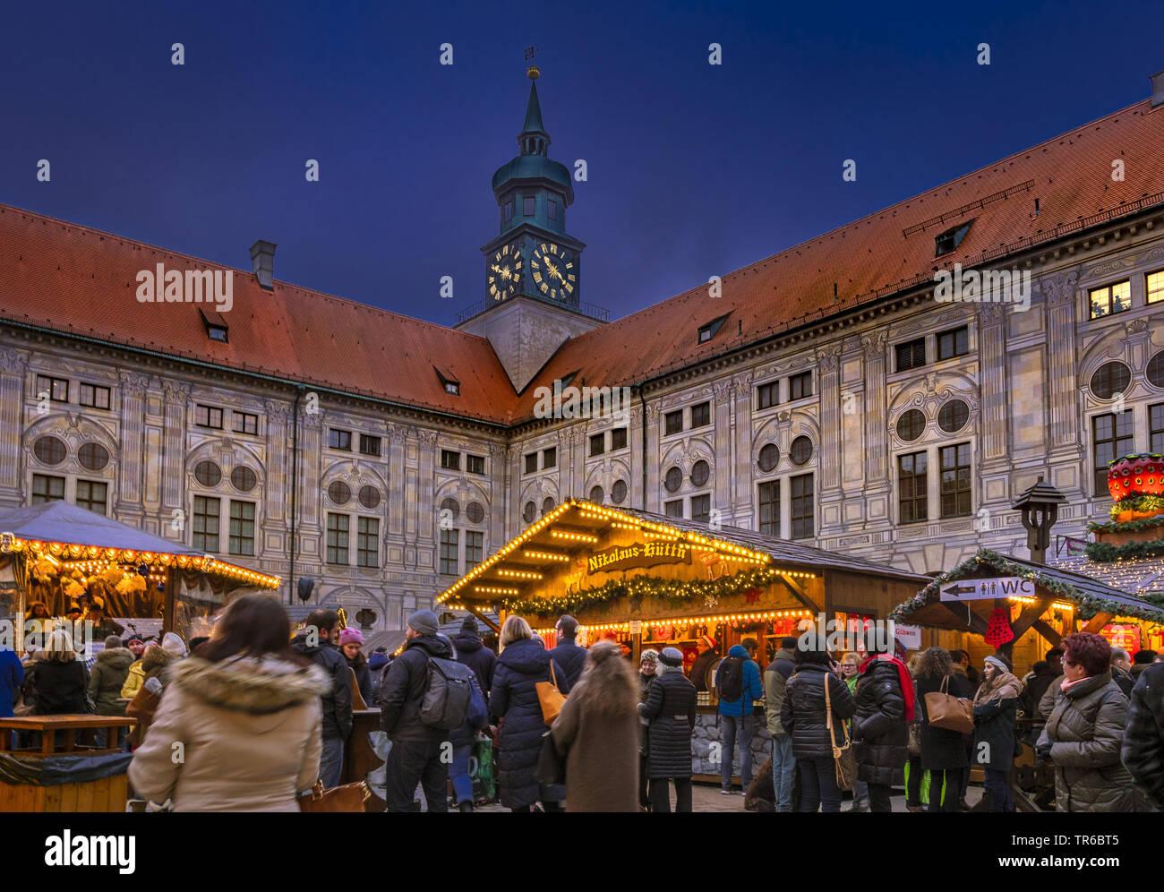 Munich Germany Christmas.Christmas Market At Kaiserhof In Munich Germany Bavaria