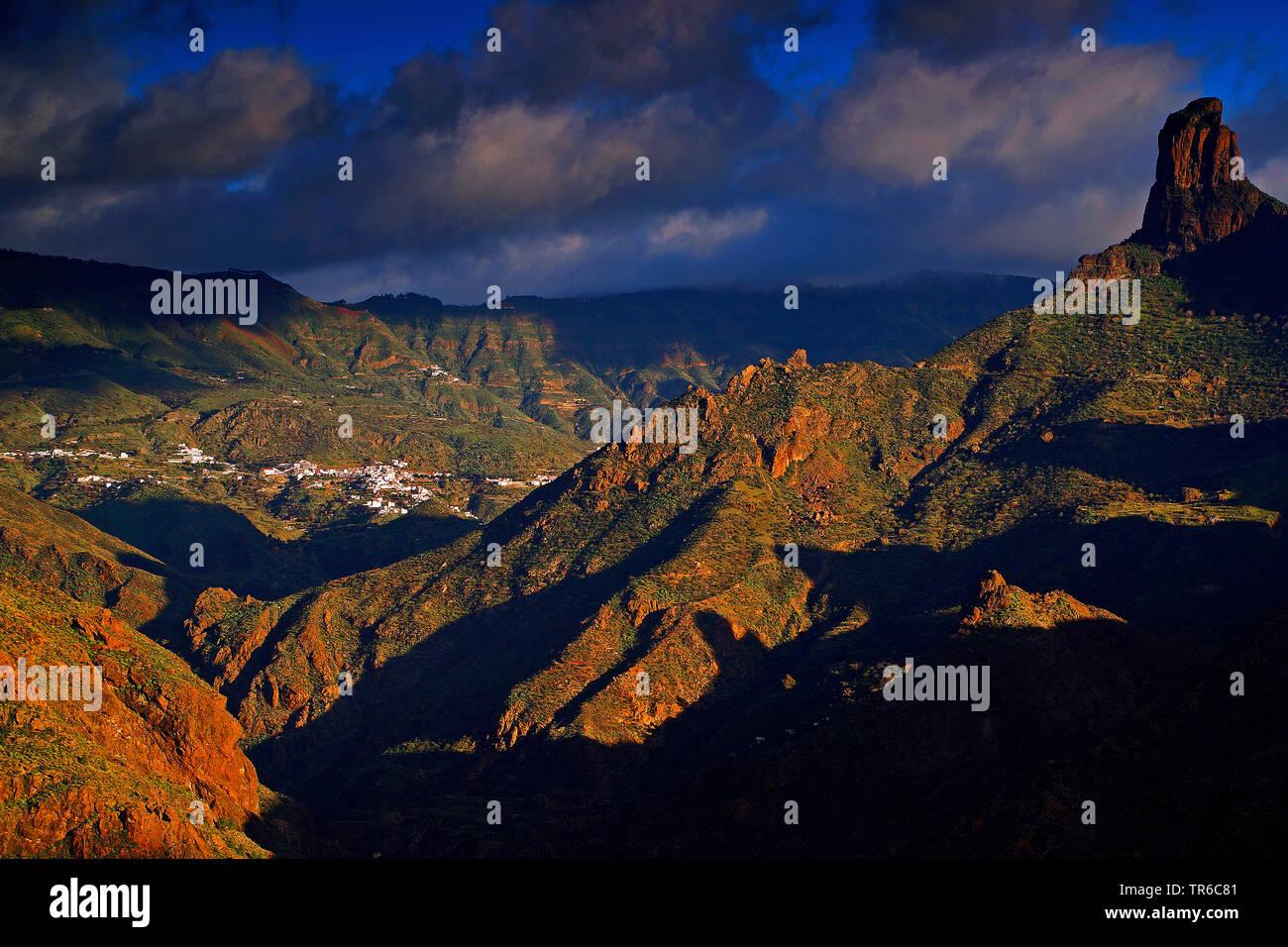 mountain scenery of Nature Park Parque Rural del Nublo, Canary Islands, Gran Canaria, Tejeda Stock Photo