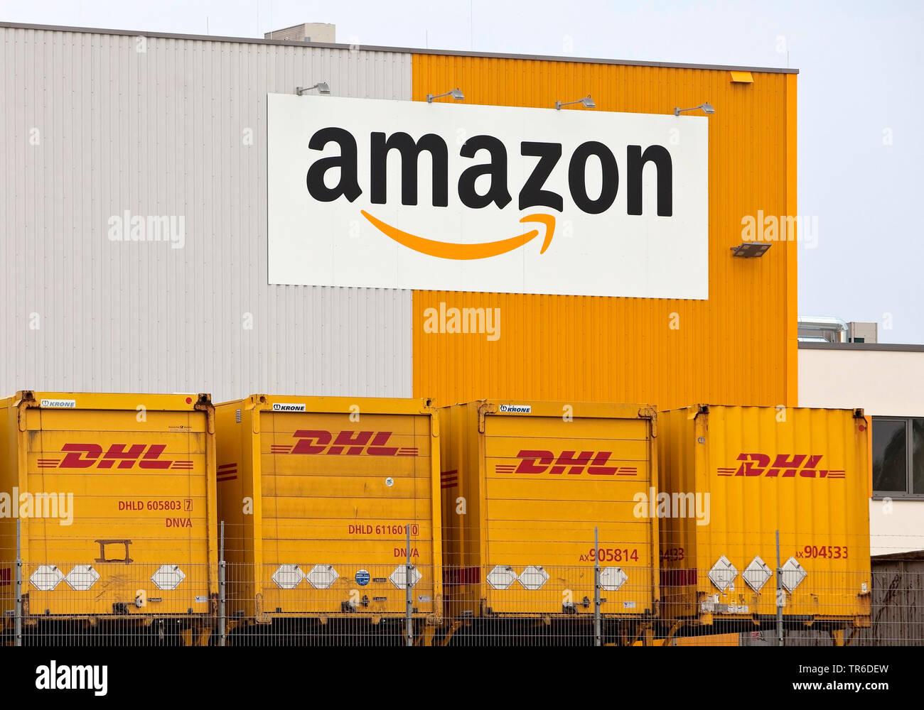 Amazon Logistikzentrum DTM2 in Dortmund auf dem Gelaende der ehemaligen Westfalenhuette, Deutschland, Nordrhein-Westfalen, Ruhrgebiet, Dortmund | amaz - Stock Image