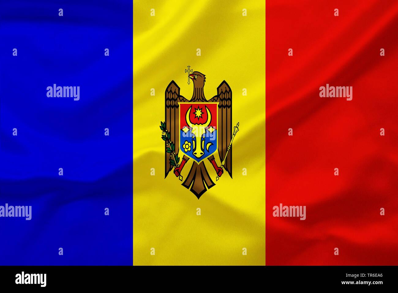 flag of Moldova against, Moldova - Stock Image