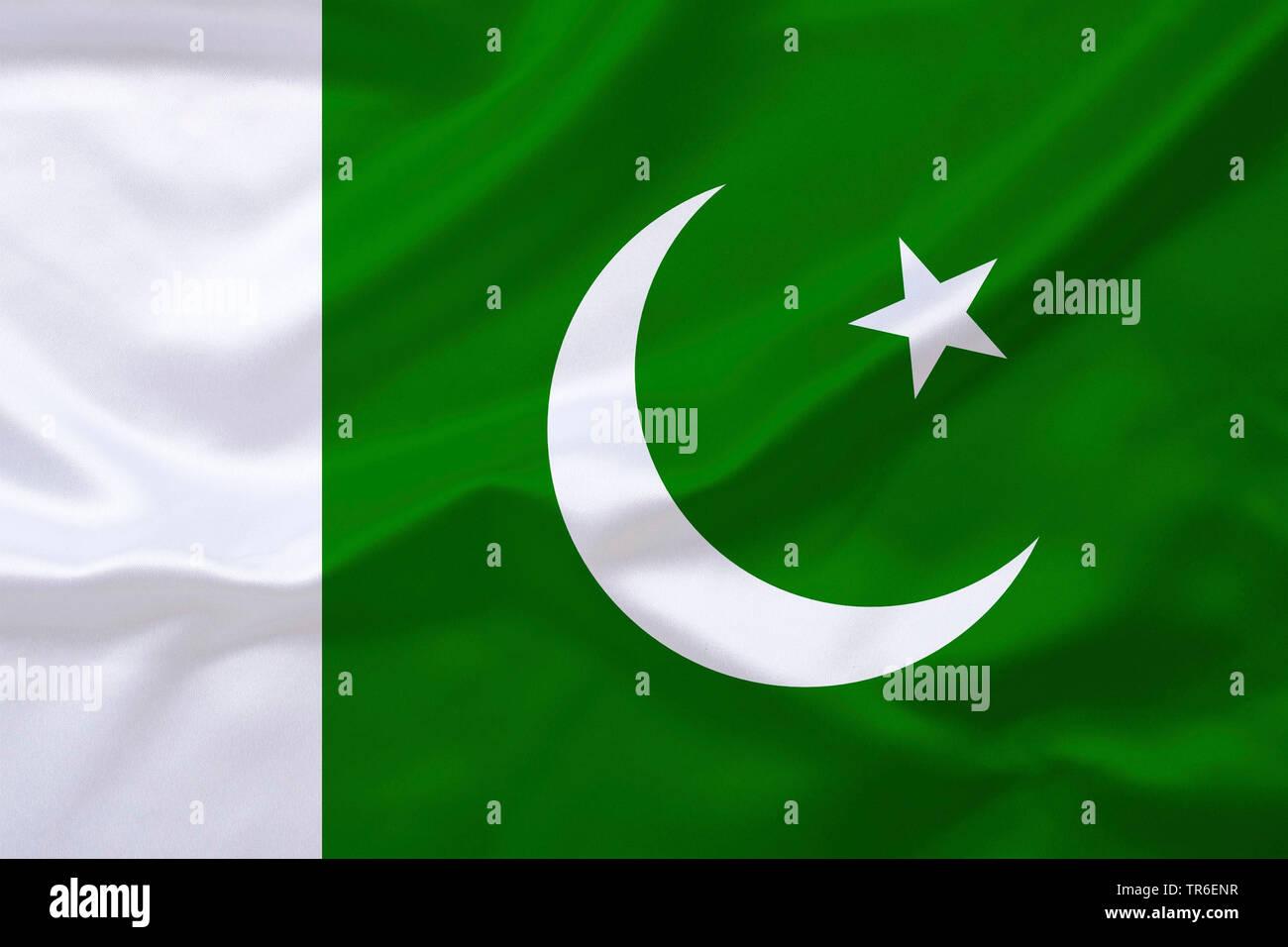 Flagge von Pakistan, Pakistan | flag of Pakistan, Pakistan | BLWS482224.jpg [ (c) blickwinkel/McPHOTO/K. Steinkamp Tel. +49 (0)2302-2793220, E-mail: i - Stock Image