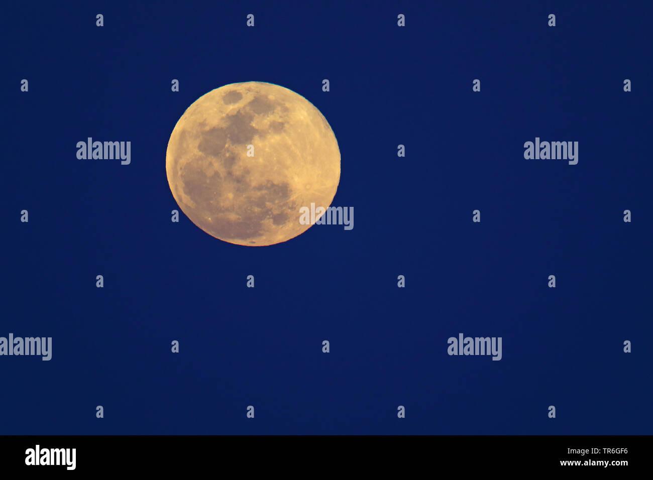 full moon, Cuba, Cayo Coco Stock Photo