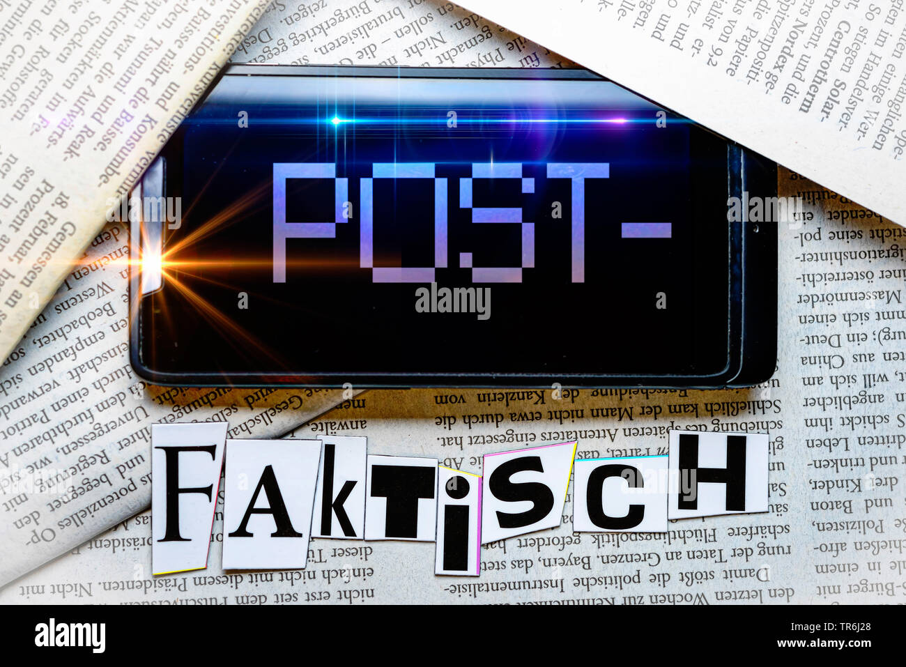 the word postfaktisch, post truth, Germany - Stock Image
