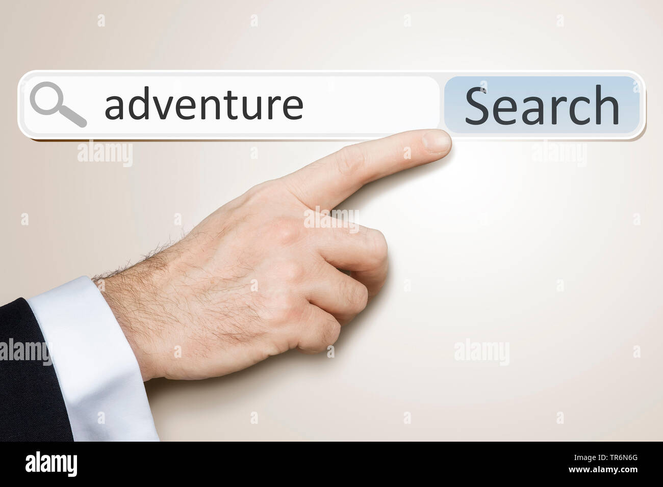 Symbolfoto Internet-Recherche adventure, Abenteuer | internet research adventure | BLWS487599.jpg [ (c) blickwinkel/McPHOTO/M. Gann Tel. +49 (0)2302-2 - Stock Image
