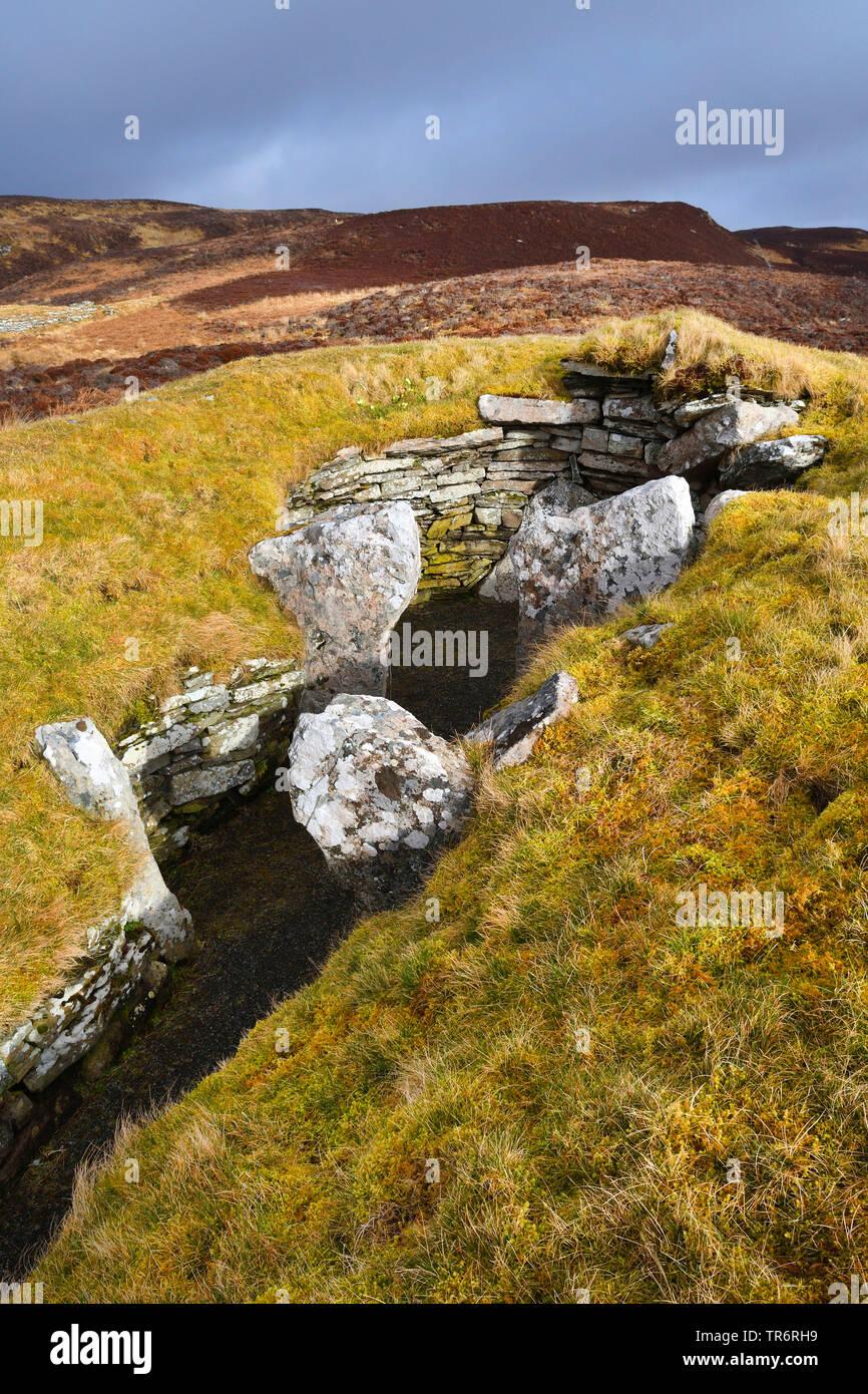 Megalithanlage Cairn o' Get, Grossbritannien, Schottland, Caithness, Ulbster | Cairn o' Get, United Kingdom, Scotland, Caithness, Ulbster | BLWS489660 Stock Photo