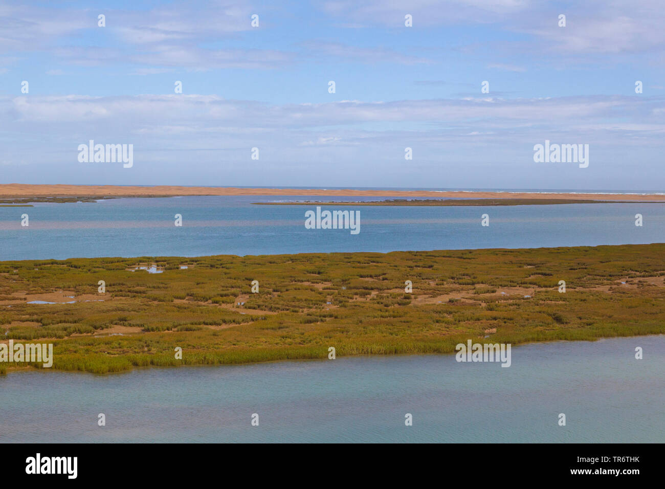 landscape in Khenifiss National park, Morocco, Western Sahara, Khenifiss National Park Stock Photo