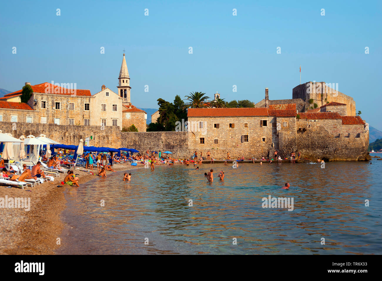 old town, Montenegro, Budva Stock Photo