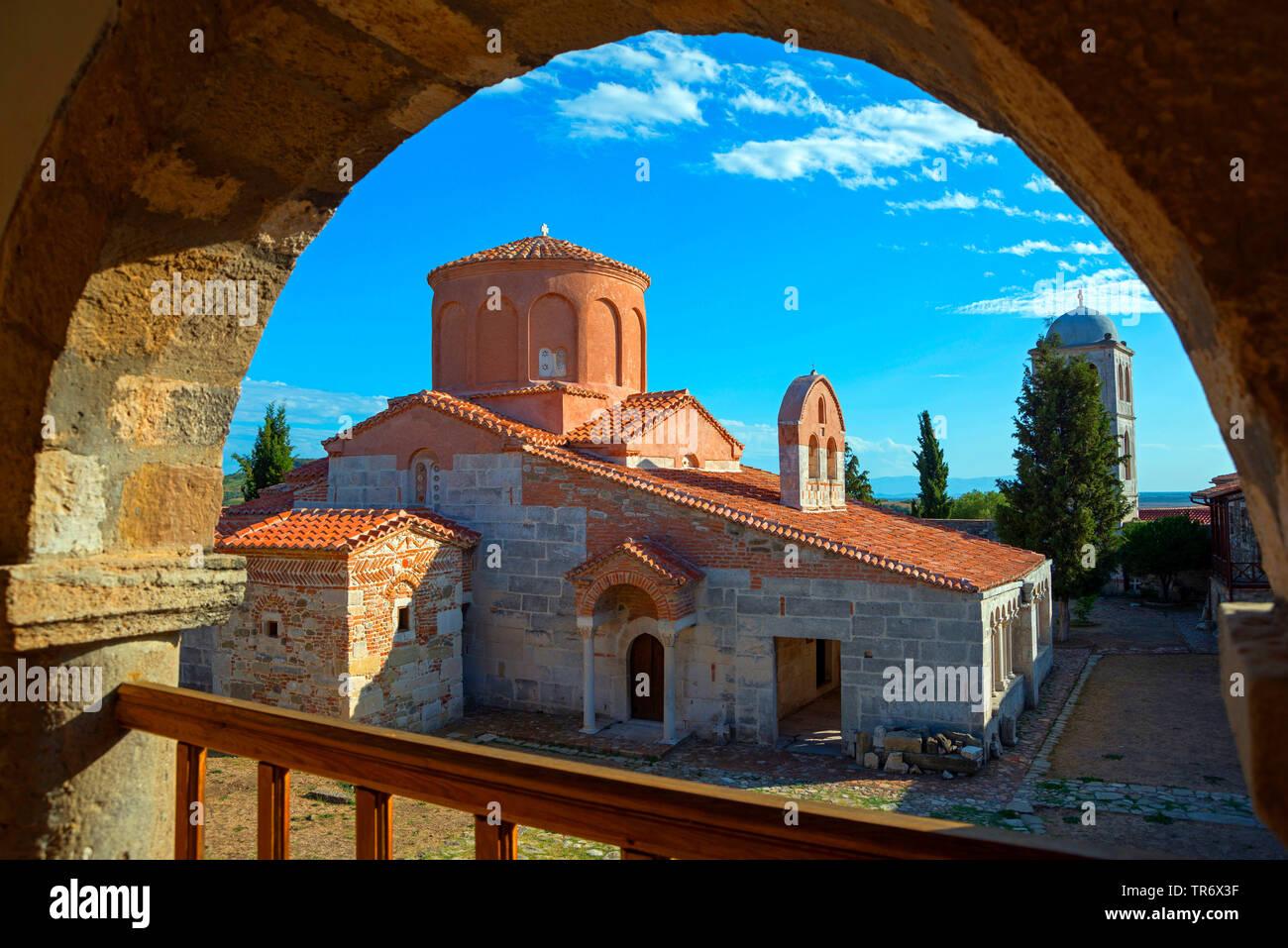 Klosterkirche Santa Maria, byzantinische Klosteranlage Shen Merise, Albanien, Apollonia, Fier | monastery church Shen Merise, Albania, Apollonia, Fier - Stock Image