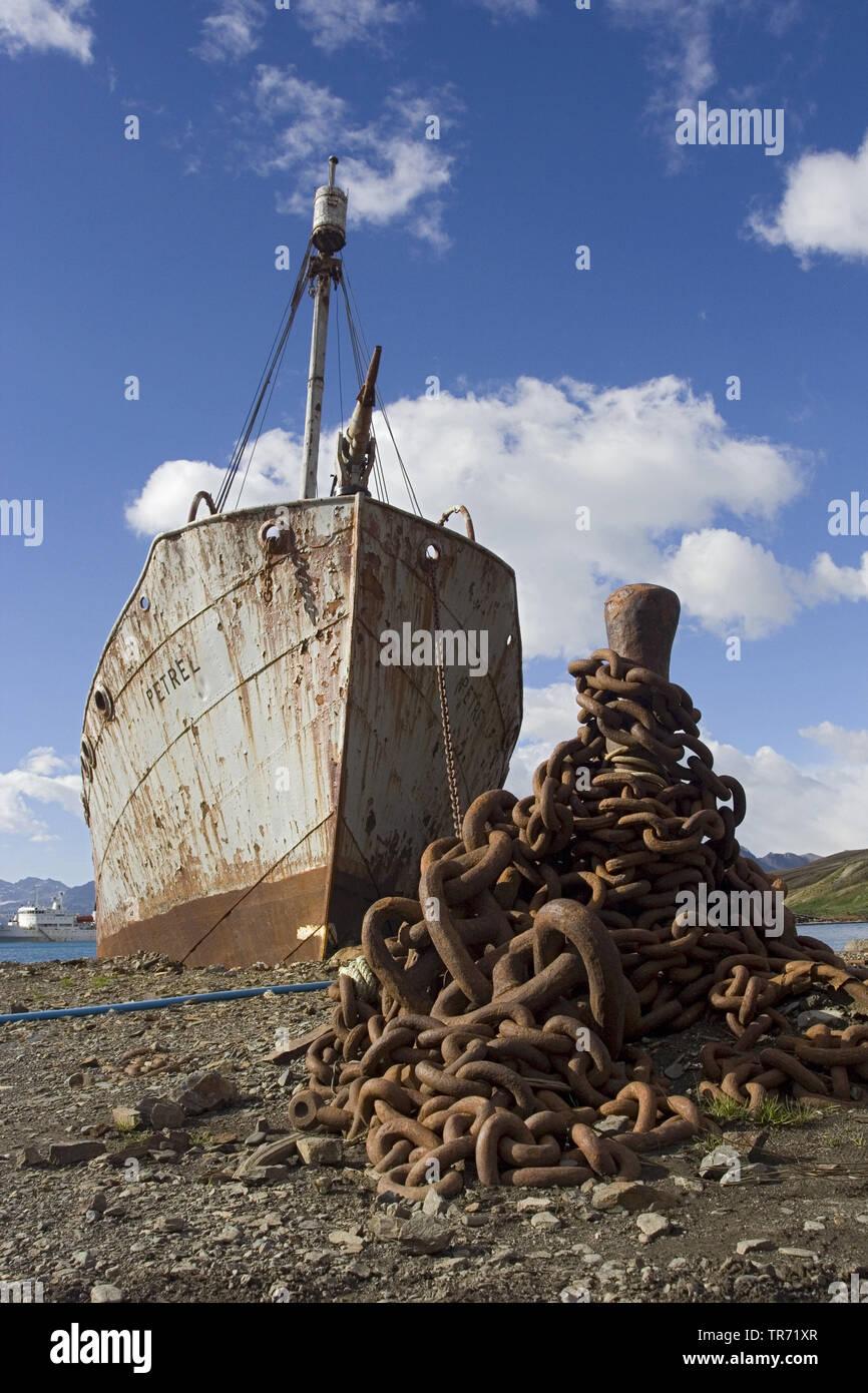 Wrack in Grytviken, Suedgeorgien | wreck in Grytviken, Suedgeorgien
