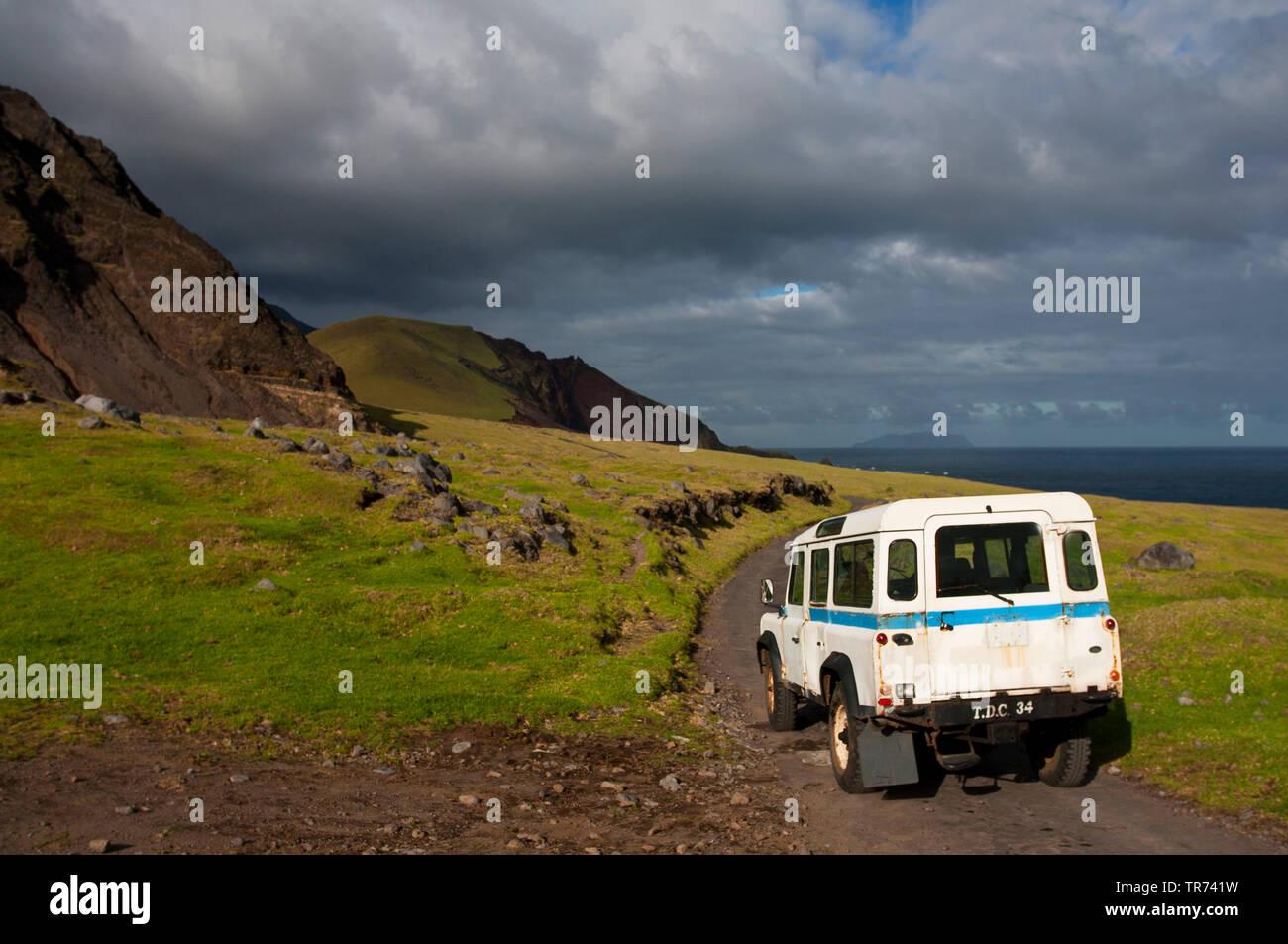 Landschaft auf Tristan da Cunha, Tristan da Cunha   landscape on Tristan da Cunha, Tristan da Cunha   BLWS497128.jpg [ (c) blickwinkel/AGAMI/M. Guyt T - Stock Image