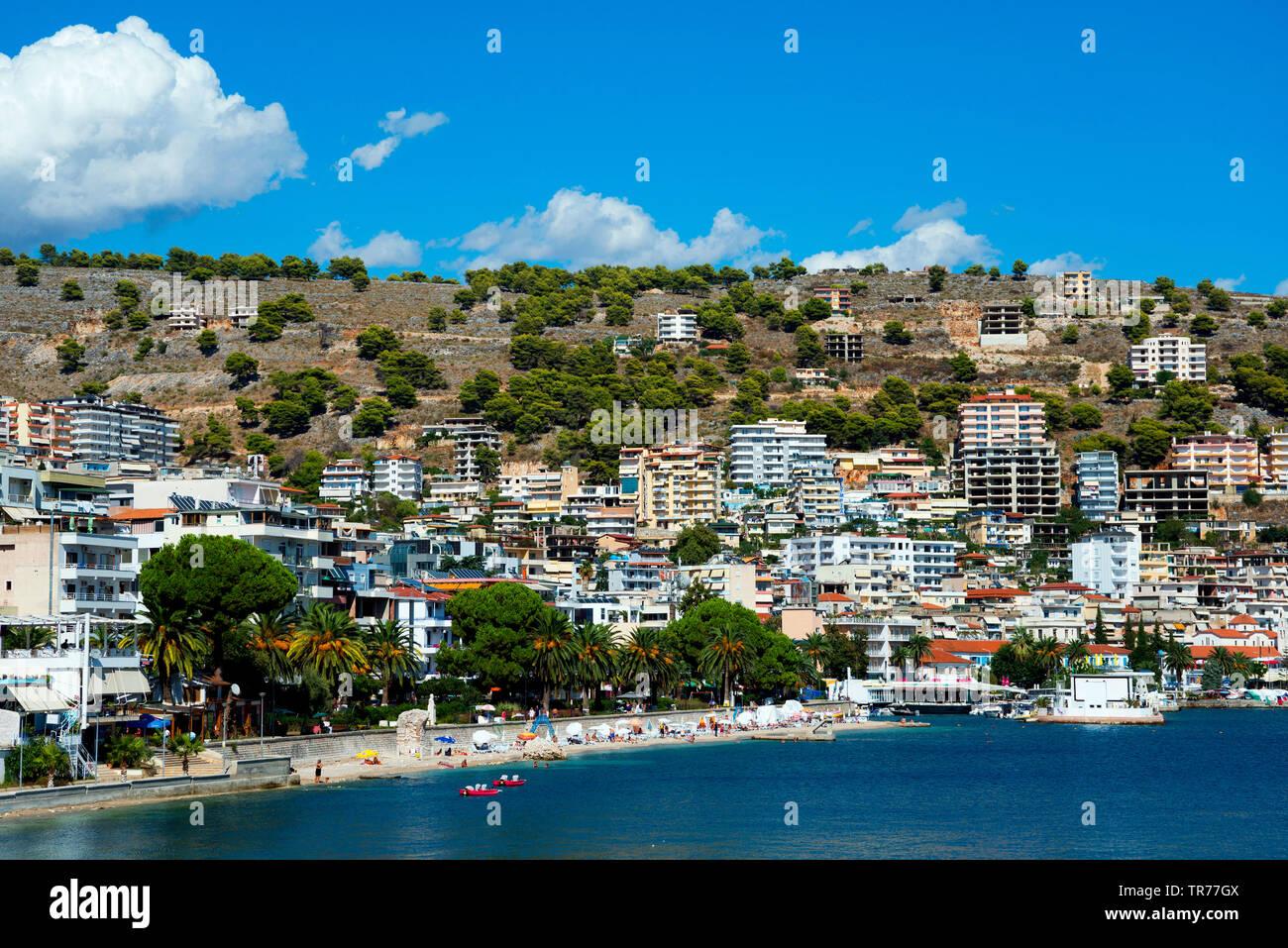 Blick auf Saranda, Albanien, Saranda | view of Saranda, Albania, Saranda | BLWS500420.jpg [ (c) blickwinkel/McPHOTO/F. Scholz Tel. +49 (0)2302-2793220 - Stock Image