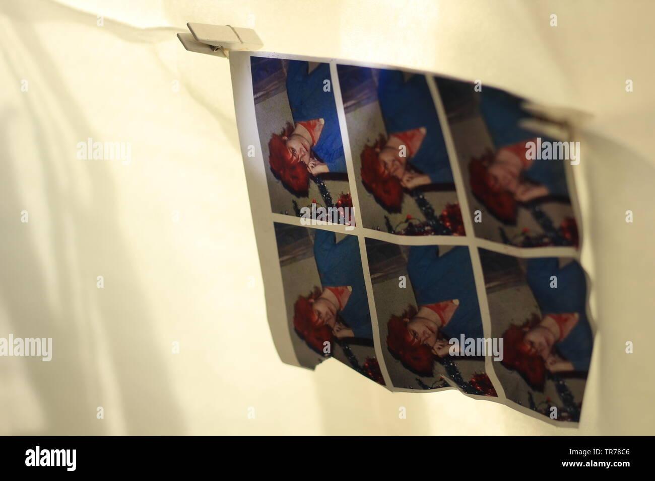 Downloading Human - An Abstract Series ' Digitally Edited Humans' - Stock Image