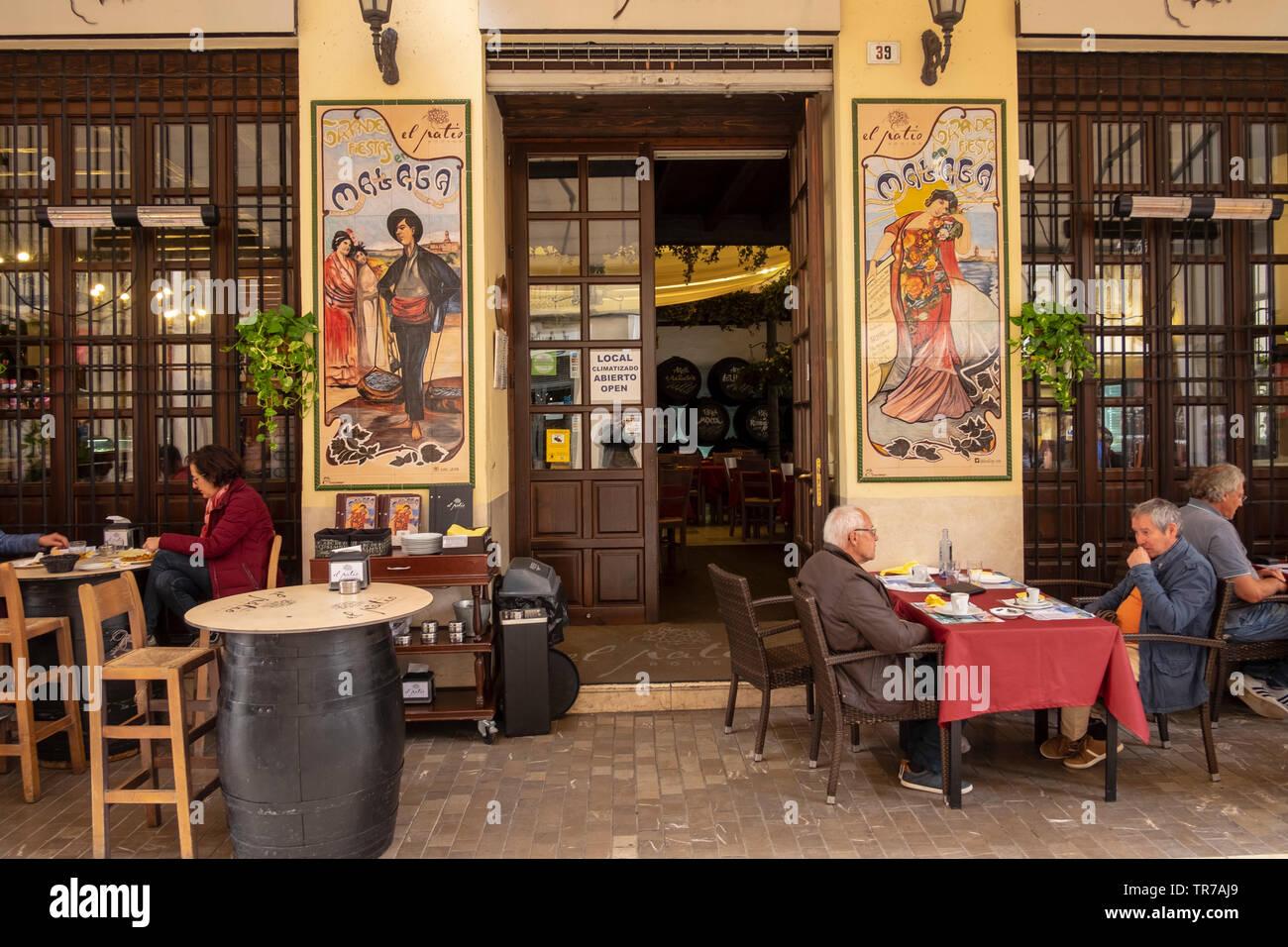 El Patio Bodega Traditional Style Bar In Malaga Spain Stock Photo Alamy