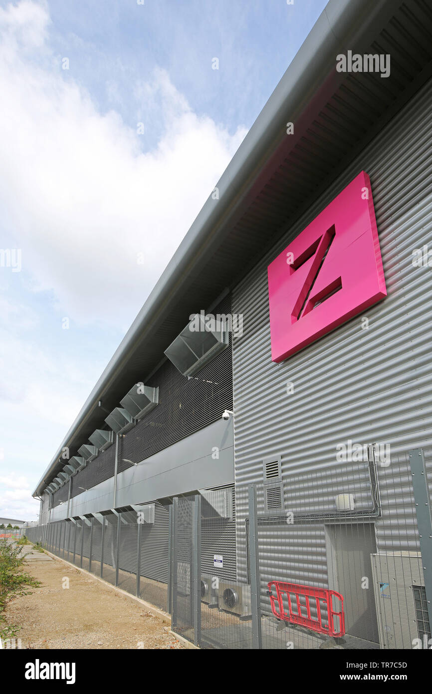 A secure data storage centre run by Zenium on the Slough Trading Estate, near Heathrow, London, UK Stock Photo
