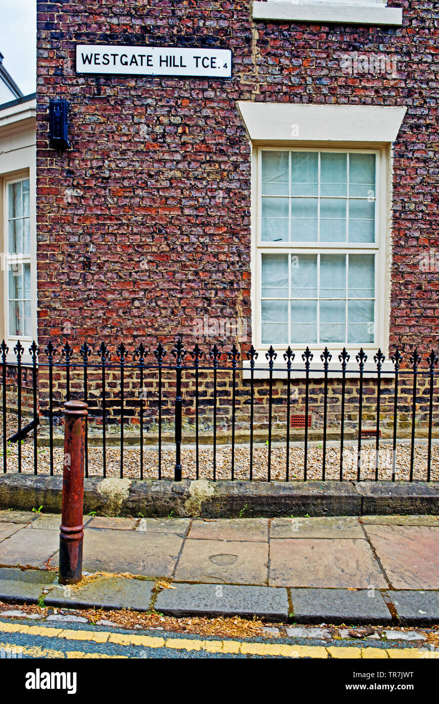 Westgate Hill Terrace, Newcastle upon Tyne, England Stock Photo
