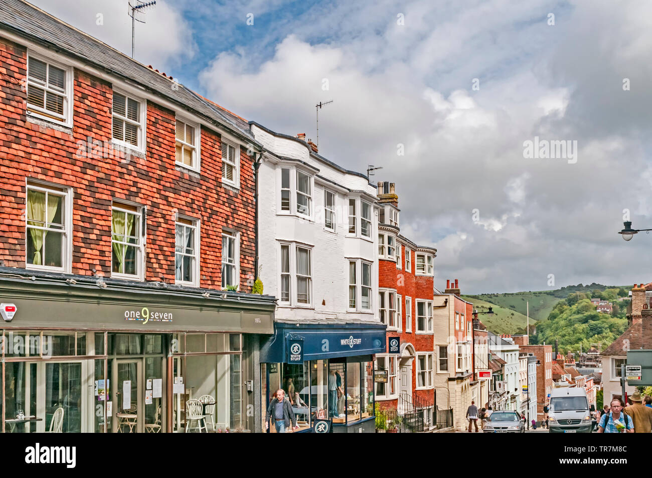 Lewes (East Sussex, England) High Street Stock Photo