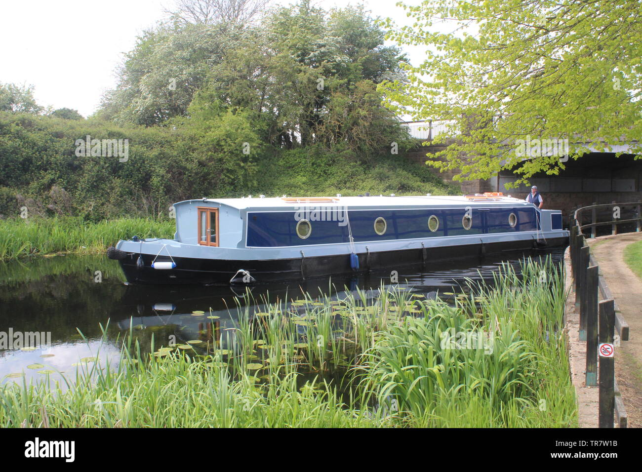 Aire and Calder Navigation Selby Canal Selby North Yorkshire England - Stock Image