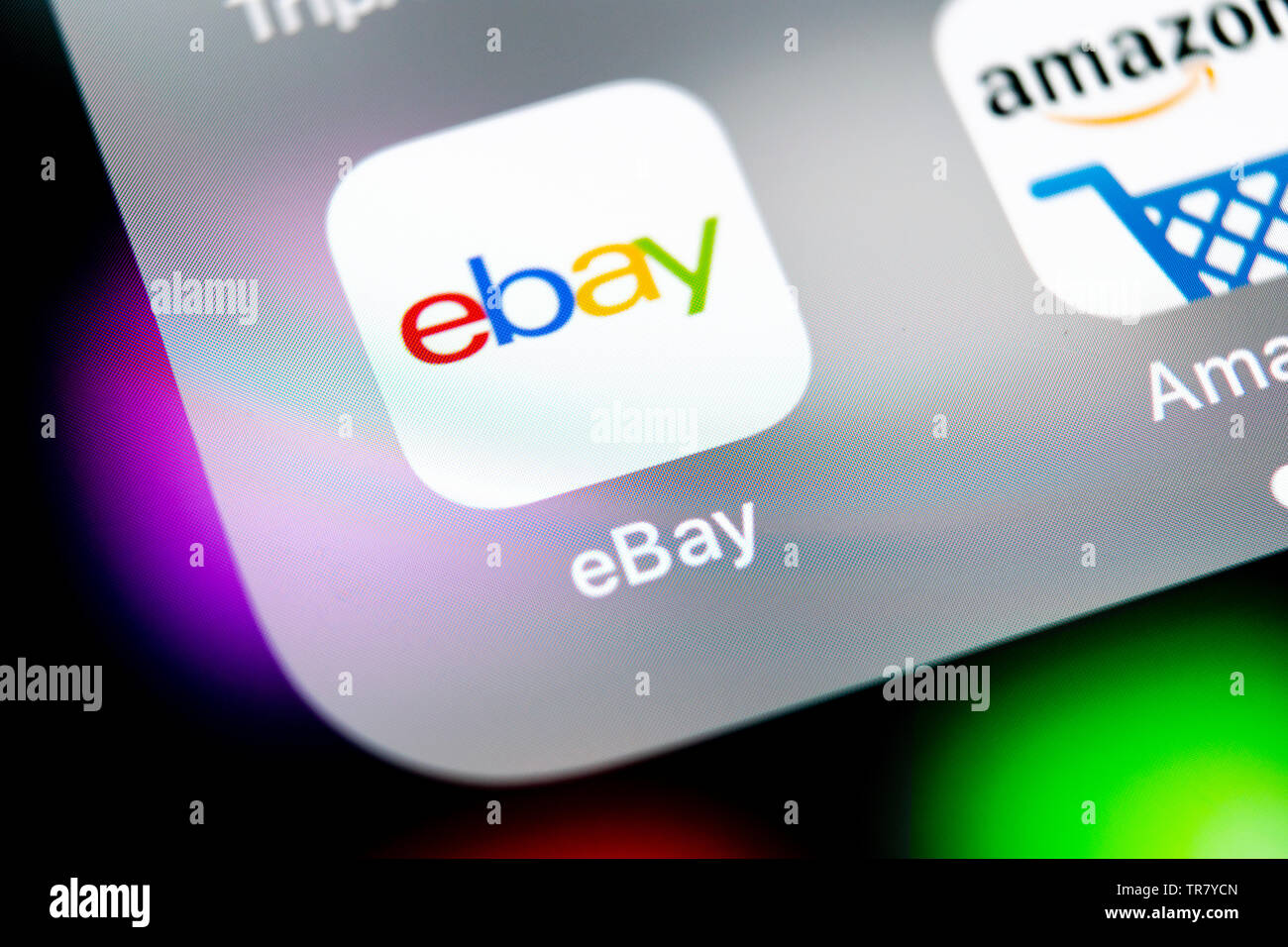 Sankt Petersburg Russia August 10 2018 Ebay Application Icon On Apple Iphone X Screen Close Up Ebay App Icon Ebay Com Is Largest Online Auction Stock Photo Alamy