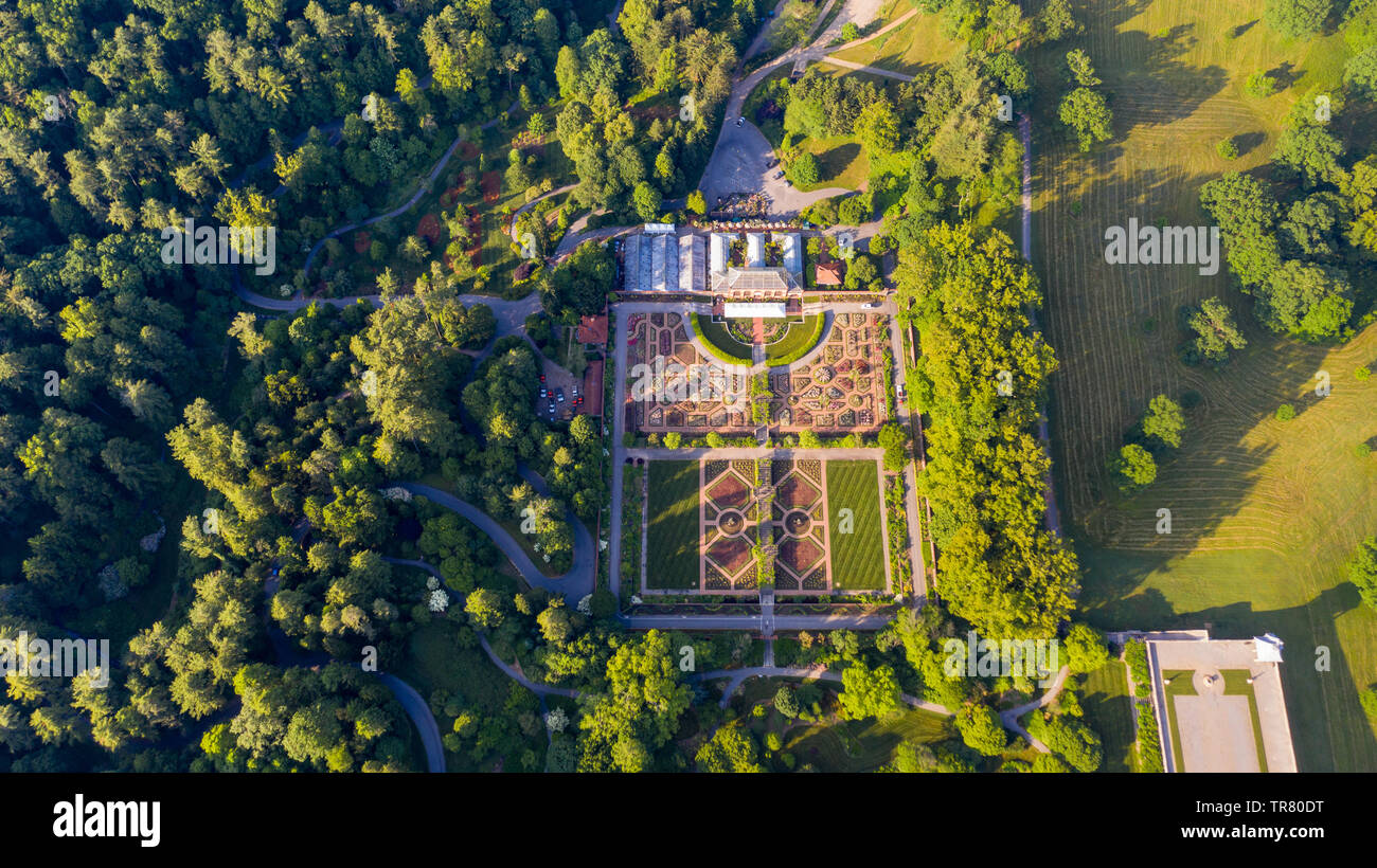 Biltmore Conservatory, Biltmore Estate, Asheville, NC, USA - Stock Image