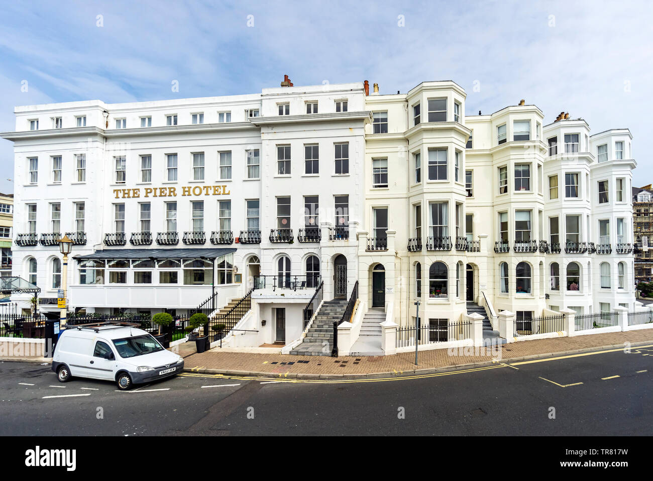The Pier hotel at Grand Parade Eastbourne East Sussex England UK - Stock Image