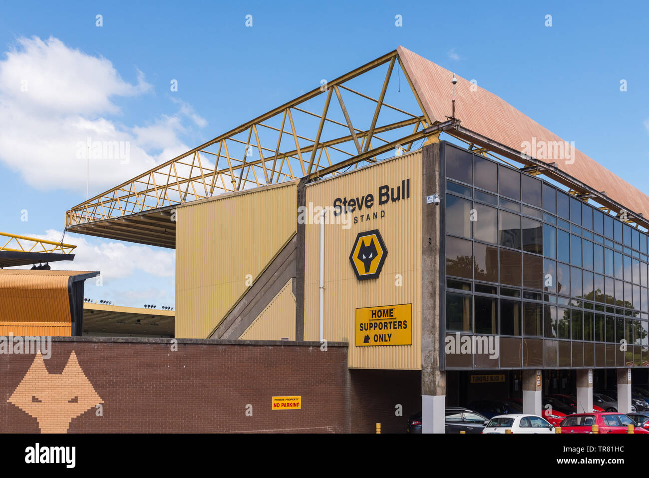 The Steve Bull stand at the Molineux, home of Wolverhampton Wanders Football Club - Stock Image