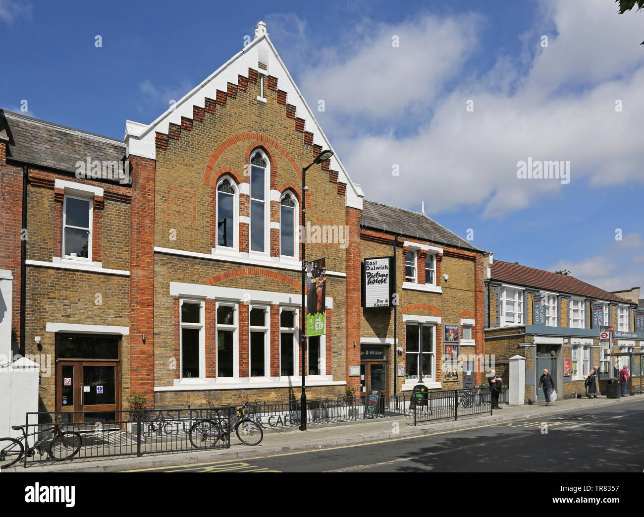 East Dulwich Picturehouse cinema. A new 3 screen cinema, bar and restaurant housed in a converted Victorian school building on Lordship Lane. - Stock Image