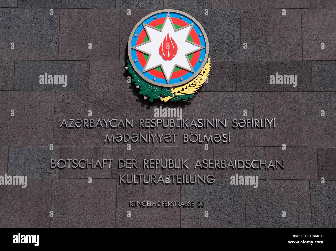 Embassy Republic of Azerbaijan in Berlin, Germany - Stock Image