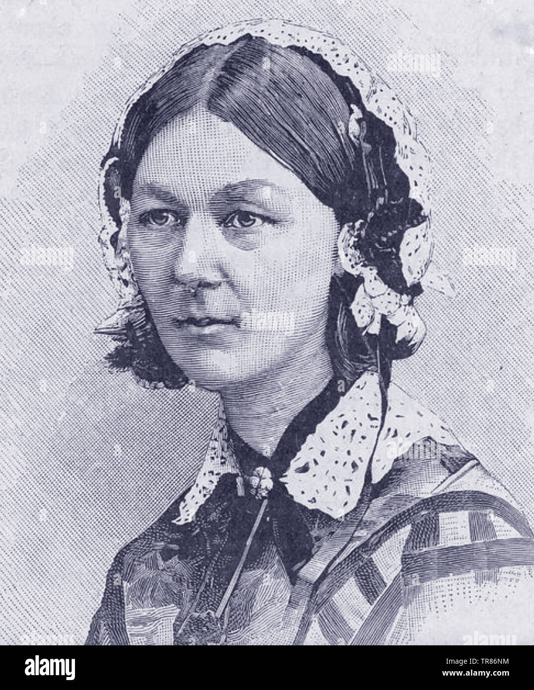 FLORENCE NIGHTINGALE (1820-1910) English nurse and social reformer about 1860 - Stock Image