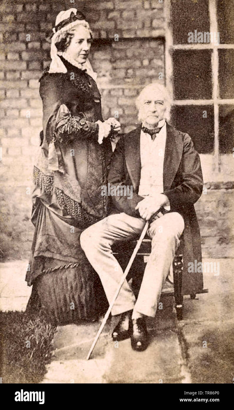 WILLIAM GLADSTONE (1809-1898) British statesman with his wife Catherine Glynne about 1870 Stock Photo