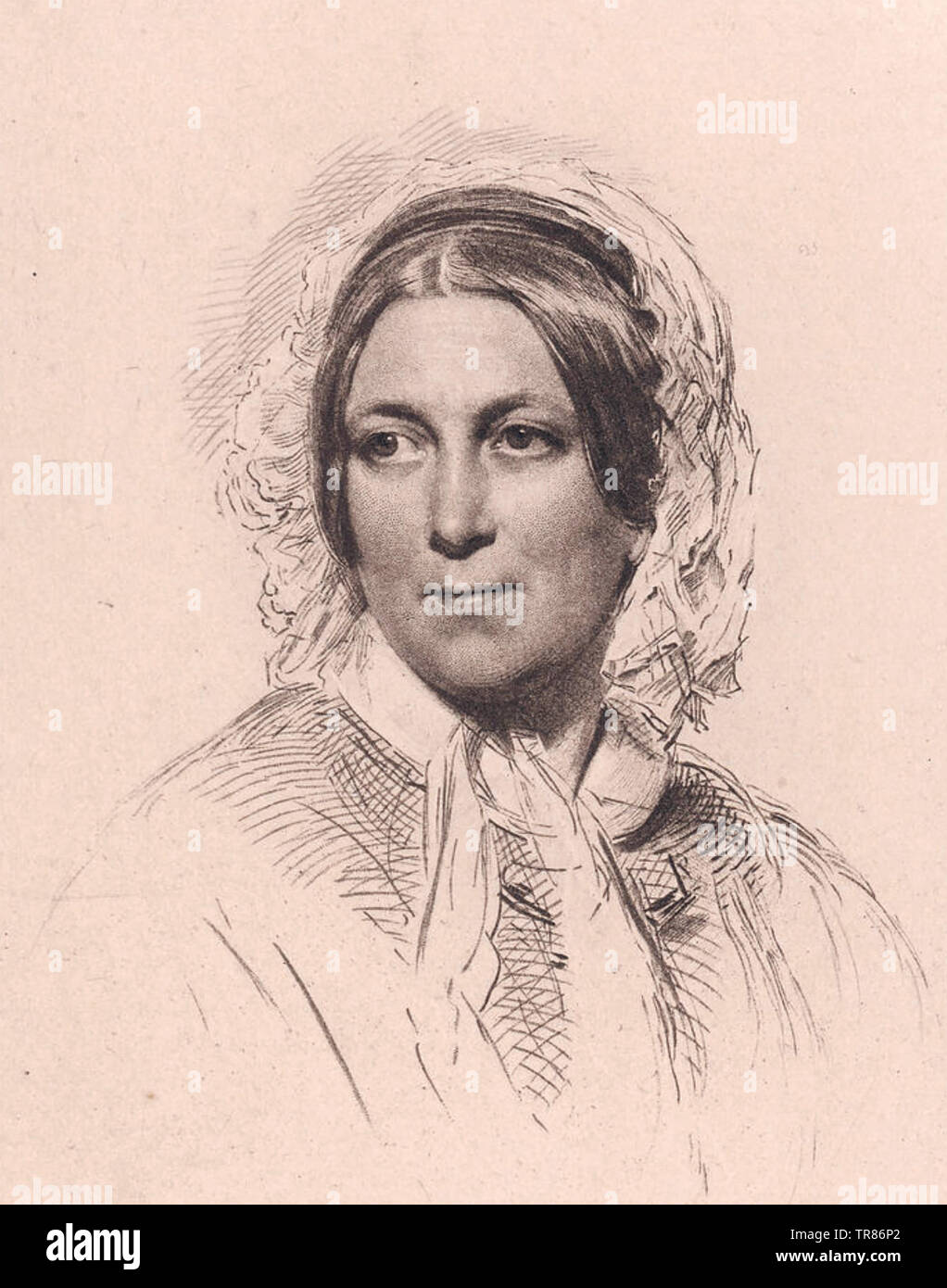 HARRIET MARTINEAU (1802-1876) English social theorist about 1840 - Stock Image